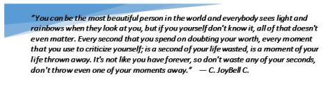 C JoyBell C. quote